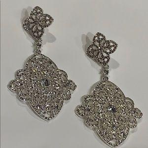 Jewelry - 925 Silver Post Crystals & Silvertone Earrings